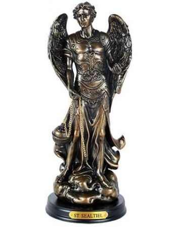 Archangel St Sealtiel Bronze Resin Christian 8 Inch Statue Mythic Decor  Dragon Statues, Angels & Demons, Myths & Legends |Statues & Home Decor