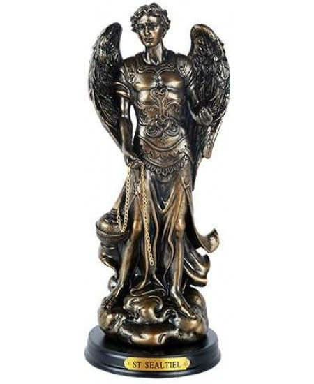 Archangel St Sealtiel Bronze Resin Christian 8 Inch Statue at Mythic Decor,  Dragon Statues, Angels, Myths & Legend Statues & Home Decor