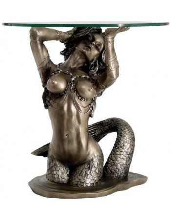 Sunsaitable Mermaid Table Mythic Decor  Dragon Statues, Angels, Myths & Legend Statues & Home Decor
