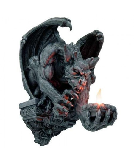 Whitechapel Gargoyle Wall Candleholder at Mythic Decor,  Dragon Statues, Angels, Myths & Legend Statues & Home Decor
