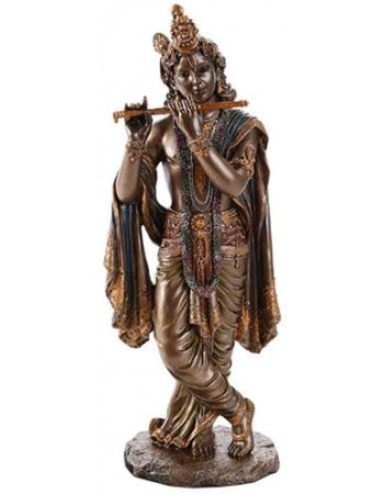 Krishna Hindu God Statue Mythic Decor  Dragon Statues, Angels & Demons, Myths & Legends |Statues & Home Decor