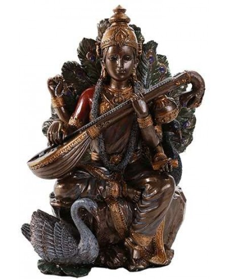 Saraswati Hindu Goddess 8 Inch Statue