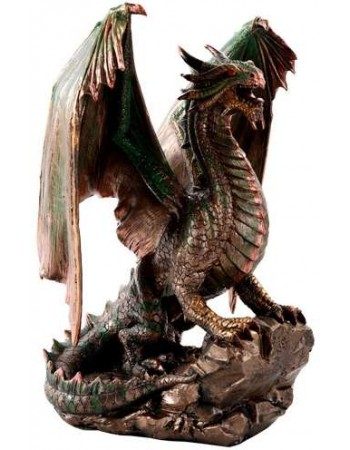 Bronzage Dragon Statue Mythic Decor  Dragon Statues, Angels & Demons, Myths & Legends |Statues & Home Decor
