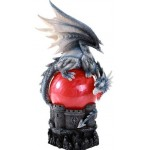 Castle Dragon Red Storm Ball Statue at Mythic Decor,  Dragon Statues, Angels, Myths & Legend Statues & Home Decor