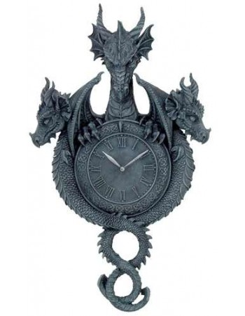 Dragon Wall Clock Mythic Decor  Dragon Statues, Angels, Myths & Legend Statues & Home Decor