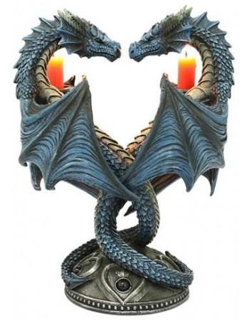 Double Dragon Candle Holder Mythic Decor  Dragon Statues, Angels & Demons, Myths & Legends |Statues & Home Decor
