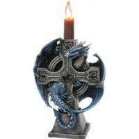 Dragon Cross Candle Holder