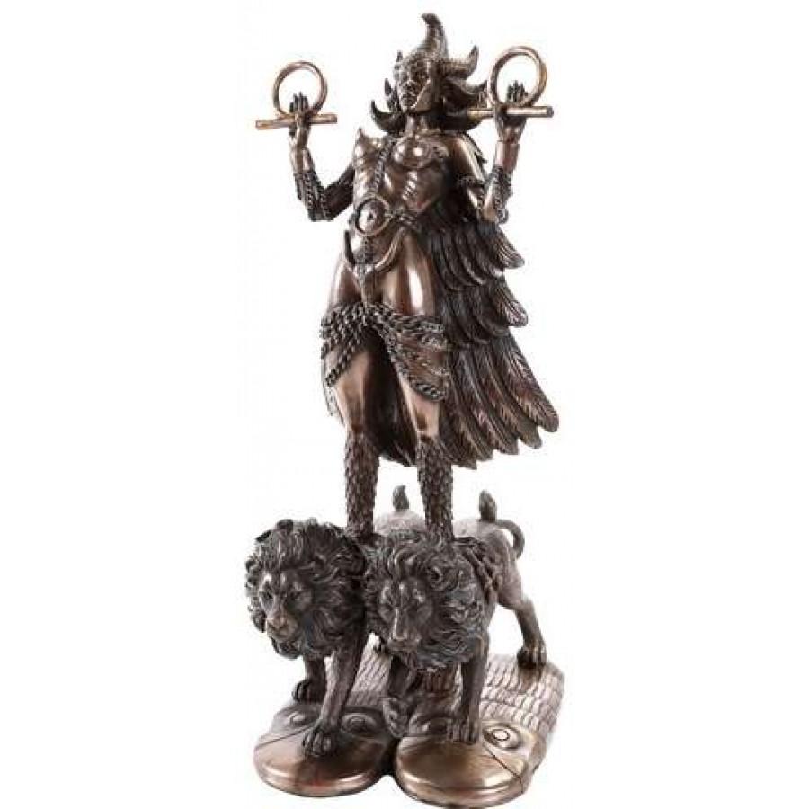 Ishtar Babylonian War Goddess Statue At Mythic Decor Dragon Statues Angels Demons