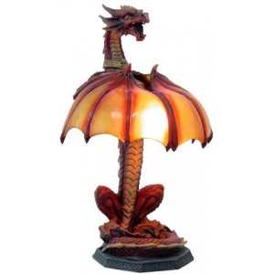 Dragon Table Lamp Mythic Decor  Dragon Statues, Angels & Demons, Myths & Legends |Statues & Home Decor