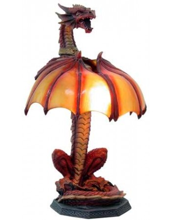 Dragon Table Lamp Mythic Decor  Dragon Statues, Angels, Myths & Legend Statues & Home Decor