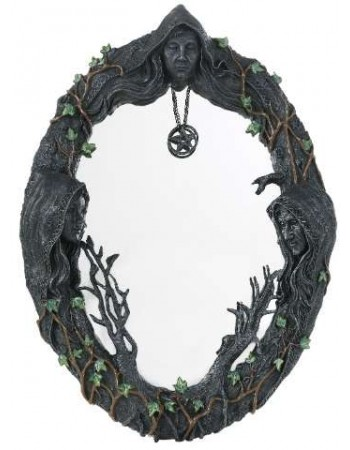 Mother Maiden Crone Wall Mirror Mythic Decor  Dragon Statues, Angels, Myths & Legend Statues & Home Decor