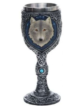 Wolf Spirit Wine Goblet Mythic Decor  Dragon Statues, Angels, Myths & Legend Statues & Home Decor