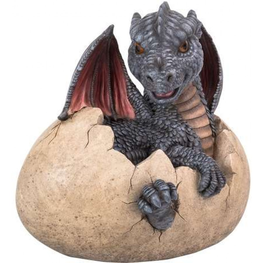 Garden Dragon Egg Statue 9 14 Inch Resin Dragon Statue