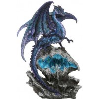 Checkmate Blue Dragon Statue