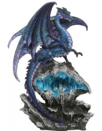 Checkmate Blue Dragon Statue Mythic Decor  Dragon Statues, Angels & Demons, Myths & Legends |Statues & Home Decor