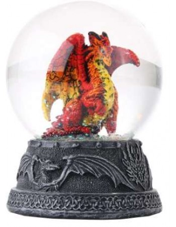 Hyperion Golden Dragon Water Globe Mythic Decor  Dragon Statues, Angels & Demons, Myths & Legends |Statues & Home Decor
