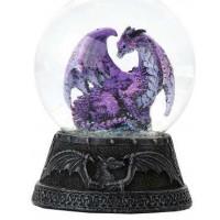Hoarfrost Purple Dragon Water Globe