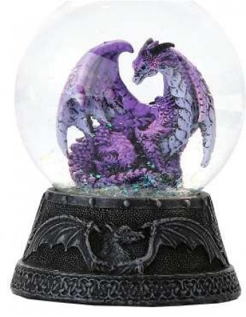 Hoarfrost Purple Dragon Water Globe Mythic Decor  Dragon Statues, Angels & Demons, Myths & Legends |Statues & Home Decor