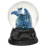 Quicksilver Blue Dragon Water Globe