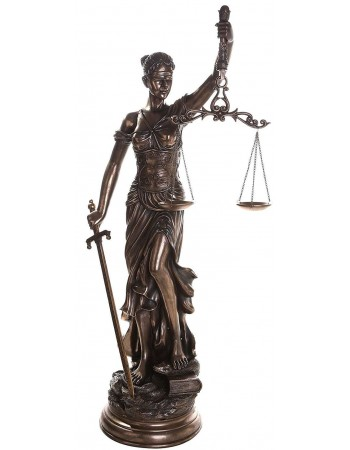 Lady Justice 48 Inch Statue in Bronze Resin Mythic Decor  Dragon Statues, Angels, Myths & Legend Statues & Home Decor
