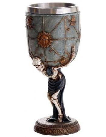 Skeleton Atlas Wine Goblet Mythic Decor  Dragon Statues, Angels, Myths & Legend Statues & Home Decor