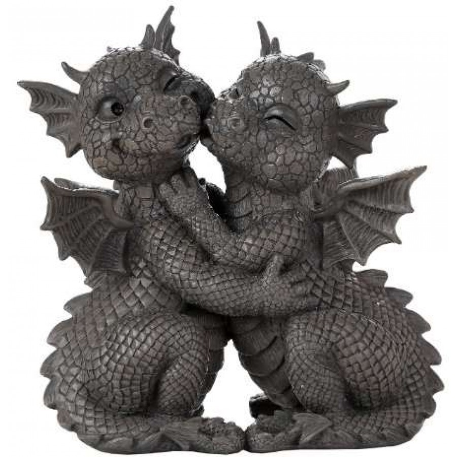 Home Decoration And Furnishing Articles Couple Characters: 10 Inch Resin Dragon Statue