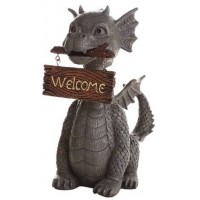 Welcoming Garden Dragon Statue
