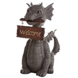 Welcoming Garden Dragon Statue Mythic Decor  Dragon Statues, Angels & Demons, Myths & Legends |Statues & Home Decor