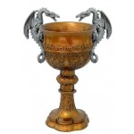 Double Dragon Golden Chalice at Mythic Decor,  Dragon Statues, Angels & Demons, Myths & Legends |Statues & Home Decor