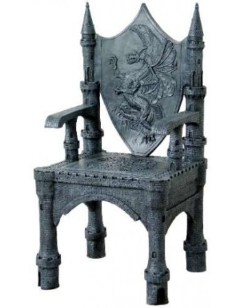 Dragon Throne Medieval Accent Chair Mythic Decor  Dragon Statues, Angels, Myths & Legend Statues & Home Decor