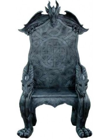 Celtic Dragon Throne Medieval Chair Mythic Decor  Dragon Statues, Angels, Myths & Legend Statues & Home Decor