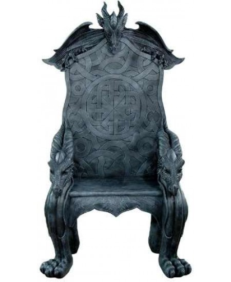 Celtic Dragon Throne Medieval Chair at Mythic Decor,  Dragon Statues, Angels, Myths & Legend Statues & Home Decor