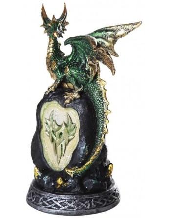 Green Dragon on Rock LED Night Light Mythic Decor  Dragon Statues, Angels & Demons, Myths & Legends |Statues & Home Decor