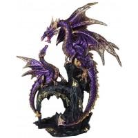 Purple Dragon Family Statue
