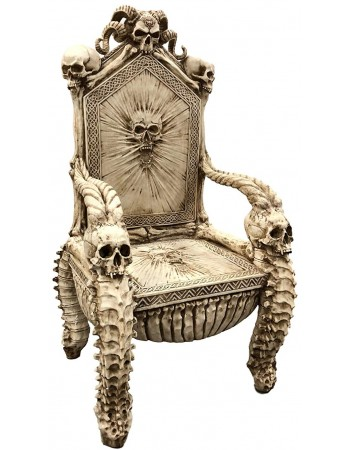 Skull Throne Gothic Chair Mythic Decor  Dragon Statues, Angels, Myths & Legend Statues & Home Decor