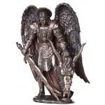 Archangel St Michael Large Bronze Statue at Mythic Decor,  Dragon Statues, Angels, Myths & Legend Statues & Home Decor