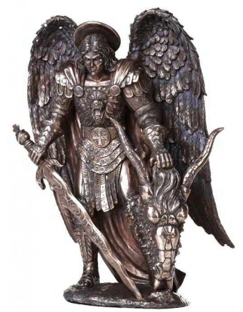 Archangel St Michael Large Bronze Statue Mythic Decor  Dragon Statues, Angels, Myths & Legend Statues & Home Decor