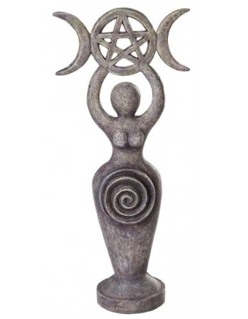 Spiral Goddess Triple Moon Altar Statue Mythic Decor  Dragon Statues, Angels, Myths & Legend Statues & Home Decor