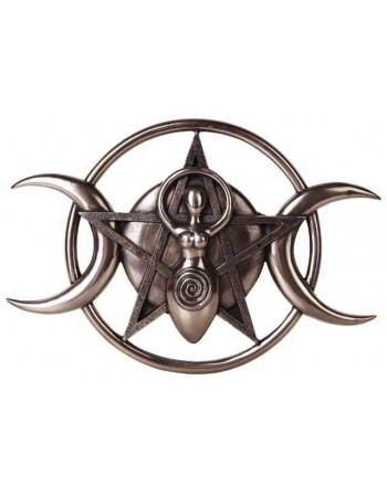 Spiral Goddess Triple Moon Bronze Plaque Mythic Decor  Dragon Statues, Angels, Myths & Legend Statues & Home Decor