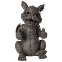Thumbs Up Dragon Garden Statue