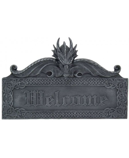 Dragon Welcome Wall Sign at Mythic Decor,  Dragon Statues, Angels, Myths & Legend Statues & Home Decor