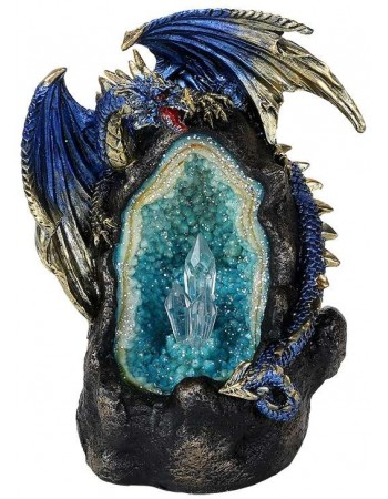 Lighted Geode Guardian Dragon Statue Mythic Decor  Dragon Statues, Angels, Myths & Legend Statues & Home Decor