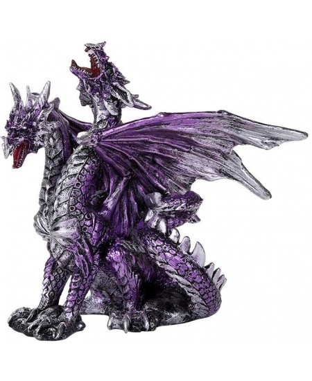 2 Headed Dragon Figurine in Purple at Mythic Decor,  Dragon Statues, Angels, Myths & Legend Statues & Home Decor