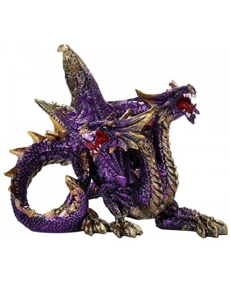 Double Headed Dragon Figurine in Purple at Mythic Decor,  Dragon Statues, Angels, Myths & Legend Statues & Home Decor