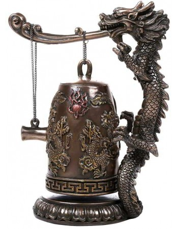 Oriental Dragon Auspicious Feng Shui Bell Mythic Decor  Dragon Statues, Angels, Myths & Legend Statues & Home Decor