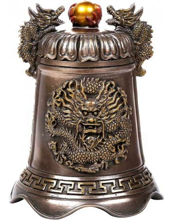 Oriental Dragon Feng Shui Bell Mythic Decor  Dragon Statues, Angels, Myths & Legend Statues & Home Decor