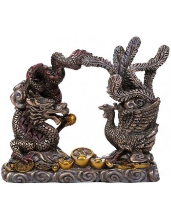 Oriental Dragon and Phoenix Feng Shui Statue Mythic Decor  Dragon Statues, Angels, Myths & Legend Statues & Home Decor