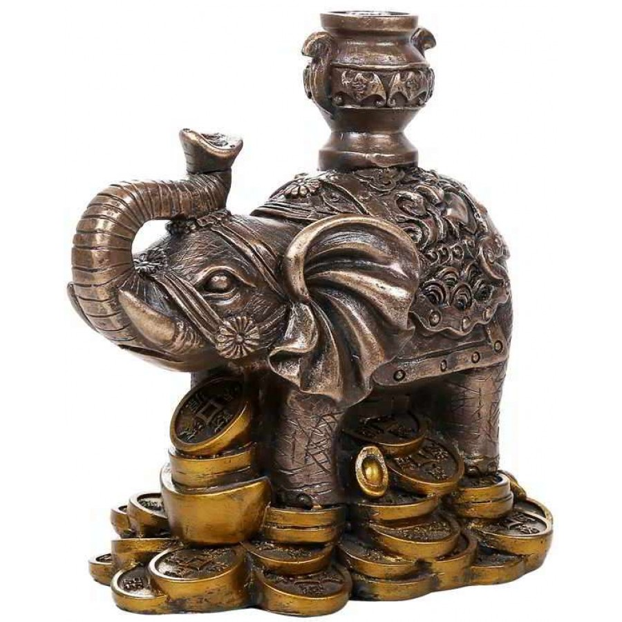 lucky elephant feng shui statue. Black Bedroom Furniture Sets. Home Design Ideas