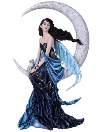 Indigo Moon Fairy by Nene Thomas Statue Mythic Decor  Dragon Statues, Angels & Demons, Myths & Legends |Statues & Home Decor
