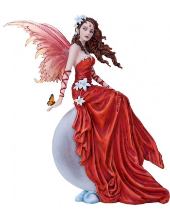 Crimson Lilly Fairy Statue